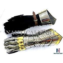 Nauticalmart Real Simple... Un Handtooled hecha a guanteletes Armor par.