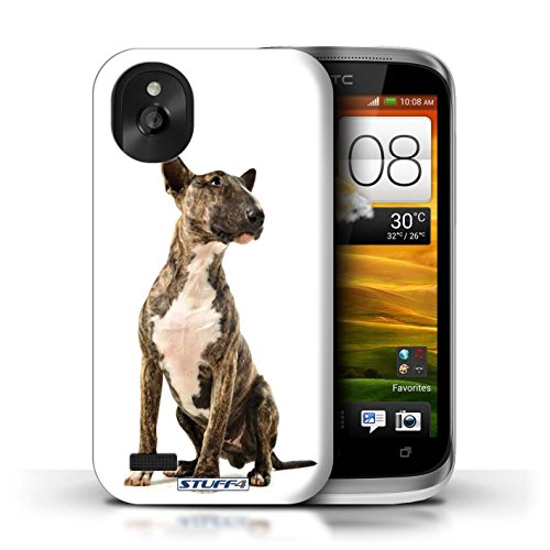 KOBALT® Hülle Case für HTC Desire X | Bull Terrier Entwurf | Hund/Hunde Kollektion