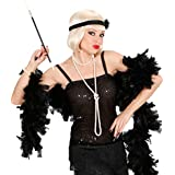 Muelle Boa Negro plumas Boa Party Artículo Charleston Boas–Muelle 20años accesorios Fasching