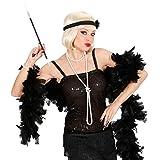 Boa de plumes noir plumes boa article de fête Charleston écharpe à plumes boas à plumes années 20 accessoires Mardi gras