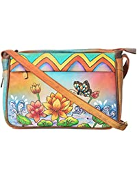 LEATHER MADE Women's Sling Bag (Multi-Coloured, MM606.01)