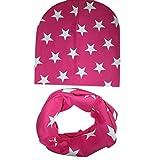 Babybekleidung Schals EUZeo Baby Mütze Schal jungen Mädchen Kleinkinder Schal Kind Schal Hüte Mützen stern (Hot Pink)