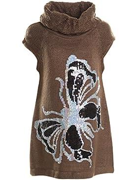 Mädchen Longshirt Bluse Shirt Pullover Kurzarmshirt Strickkleid Rollkragen 20903