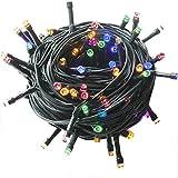 YOSION 100-1000 LEDs 4 Farben Wählen LED Lichterkette Weihnachten Kette Leuchte auf Dunkelgrün Kabel (300 LEDs, Bunt)