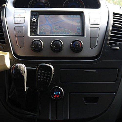 Demiawaking-3-in-1-termometro-LCD-Digital-auto-caricatore-USB-Display-voltmetro-Misuratore-di-tensione