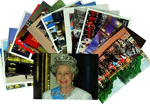 Cartoline londra, una collezione di 15cartoline, formato grande, 12cm x 17cm, da collezionare, incorniciare o spedire, con unminimo di 12diversi design