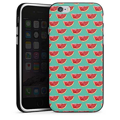 Apple iPhone X Silikon Hülle Case Schutzhülle Wassermelone Muster Sommer Silikon Case schwarz / weiß