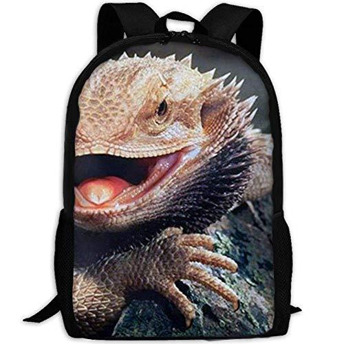 best& Bearded Dragon Lizards Casual Laptop Backpack School Bag Shoulder Bag Travel Daypack Handbag -