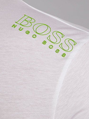 Hugo Boss Herren T-Shirt, Einfarbig Weiß