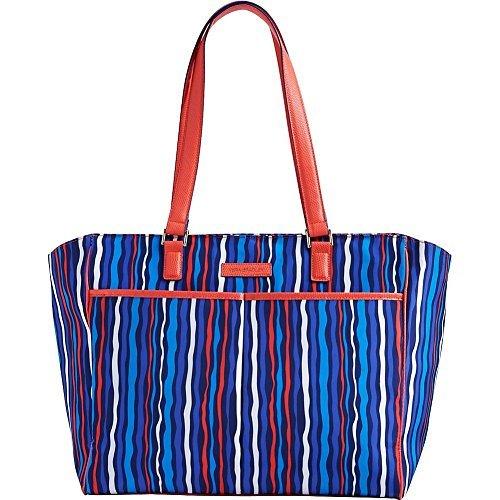 vera-bradley-damen-schultertasche-blau-cobalt-stripe-einheitsgrosse