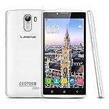 Smartphones Best Deals - Landvo XM100S - 3G Smartphone Libre Android 5.1 Multi-Idioma (Pantalla 5.0'' IPS, MT6580M Quad Core 1.3GHz, 1G Ram, 8G Rom, Dual Sim, Smart Wake GPS WIFI) (Blanco)