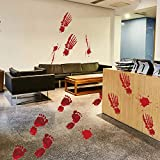 VEMOW Heißer Verkauf Horor Design Bloody Footprints Floor Clings Halloween Vampire Zombie Party Decor Decals Wall Stickers 23x35cmx4pcs