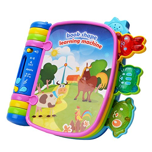 WISHTIME Musical Book Flip Learning Toys BN17019 Early Learning Educational eBook Toys withLightandSound Interactive for Baby, 1 Year Old, Toddler