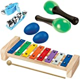 Tulatoo Baby and Toddler Musical Instrument Toys. Music Sensory And Percussion Set For Kids Of All Ages