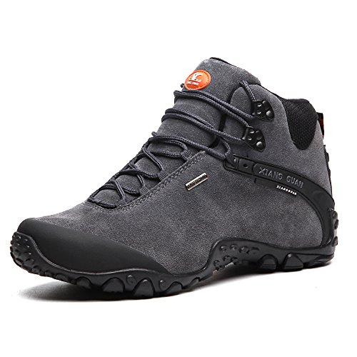 Scarpe uomo da escursionismo & stivali in pelle scamosciata per invernali 82287 Grigio