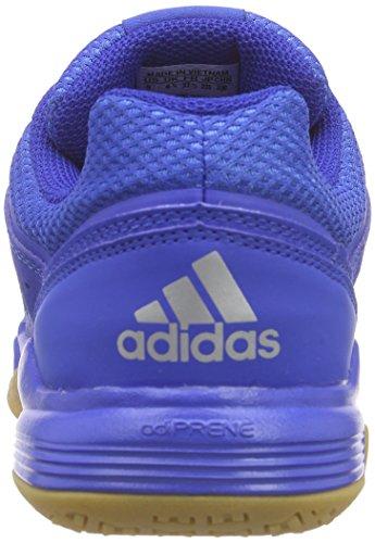 adidas Jungen Court Stabil Handballschuhe Blau (Blue/Ftwr White/Silver Met.)