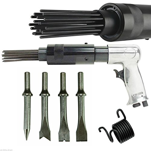 air-hammer-descaler-needle-gun-tool-kit-paint-rust-remover-19-pin-4-x-chisels