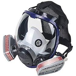 OHMOTOR Respirateur intégral Double Cartouche Filtre à air de qualité Industrielle respiratoire pour Protection Contre la poussière des vapeurs organiques