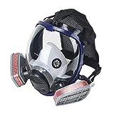 OHMOTOR Vollmaske Atemschutzmaske mit Luftfilterpatrone Vollgesichtsmaske für...