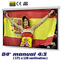 "Pantalla de proyeccion manual de 171 x 130cm , Luxscreen 84"" pulgadas"