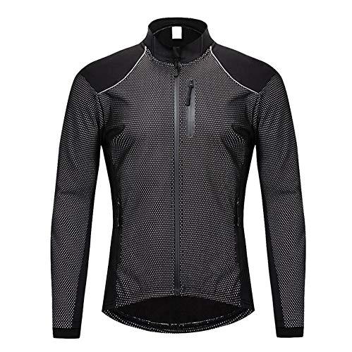 AQWWHY Herren Langarm Radtrikot, MTB-Shirt, Cycle Tops, Rennrad Shirt Fahrradbekleidung atmungsaktiv und schnell trocken -