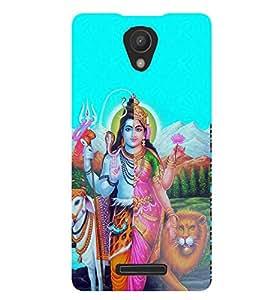 Fuson Lord Ardhnarishwar Case Cover for Xiaomi Redmi Note 2