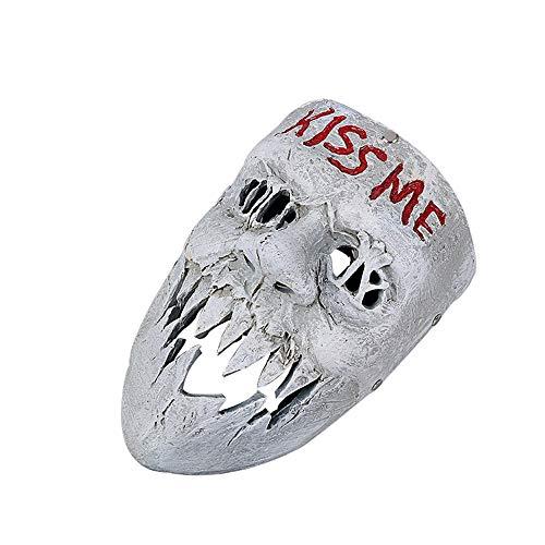 Fanfan Human Remoción Plan 3 Kiss Me Máscara Horror Mueca Halloween Máscara Colmillos Conjunto De Apoyos Cráneo