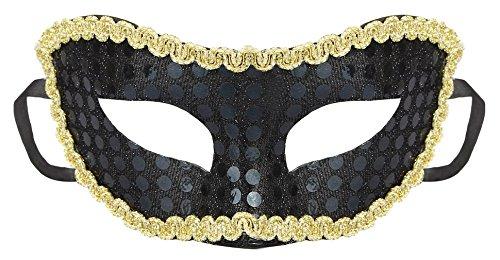 EOZY Maske Paillettenmaske Augenmaske Kinder Maskerade Kinder Halloween Kostüm Tanzabend (Schwarz)