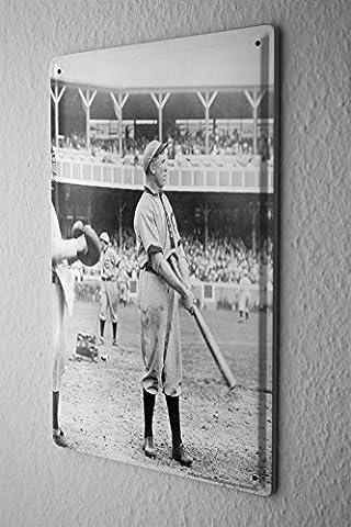 Tin Sign Metal Wall Plaque PosterSports Baseball bat