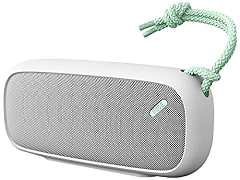 NudeAudio Move L Universal Portable Wireless Bluetooth Speaker with UK/EU Plug - Grey/Mint