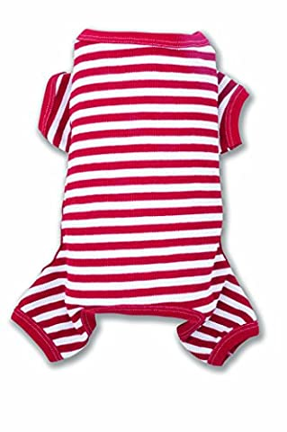 ColdWoof 604US Candy Cane Striped Cotton/Polyester Dog Union Suit,