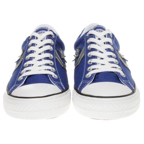 Converse Scarpe Basse All Star Star Player Ox in Tessuto Blue e Logo Grigio 129769C Blu