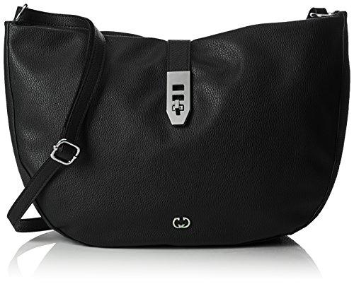 Gerry Weber Damen Round Rings Shoulderbag Lhz Umhängetasche, Schwarz (Black), 8x28x41 cm