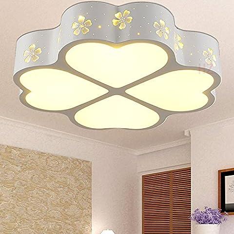 LINA-Retro Vintage colgante tonos claros contemporáneo colgante techo techo Metal luz iluminación lámpara Lámpara de techo de trébol de cuatro hojas de hierro forjado en forma de especial , 50*50cm