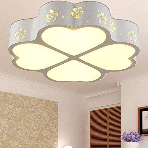 BLYC- Moderne minimalistische Schlafzimmer-Lampe kreative -Deckenleuchte Licht Nordic Deckenleuchte LED speziell-geformten Schmiedeeisen vierblättriges Kleeblatt , 50*50cm