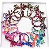 Interesting® 10 PC/sistema de doble cadena y anillo de goma de pelo de Color costura arco. Colores mezclados