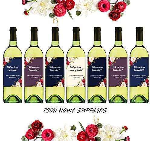 I Can 't Say I Do ohne sie   Set von 7Hochzeit Wein Flasche Bridesmaid Wein Etiketten für Brautschmuck Party