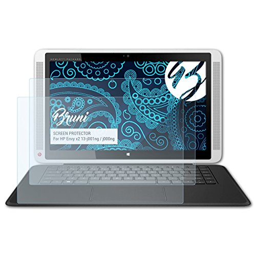 Bruni Schutzfolie kompatibel mit HP Envy x2 13-j001ng / j000ng Folie, glasklare Displayschutzfolie (2X)