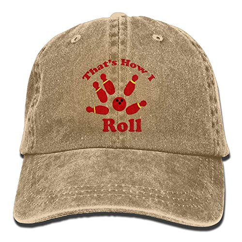 That's How I Roll Bowling Denim Hat Adjustable Womens Classic Baseball Caps