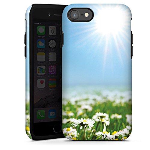 Apple iPhone X Silikon Hülle Case Schutzhülle Blumenwiese Gänseblümchen Blumen Tough Case glänzend