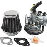 GOOFIT PZ19 Carburador para chino 125cc 110cc 90cc ATV Quad Go-kart filtro de aire de cable de la estrangulación