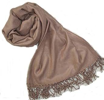 Etole cachemire et soie camel