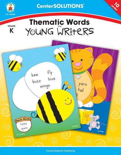 Thematic Words for Young Writers, Grade K (Centersolutions Tear-Away Books) (Trend Flash-karten)