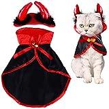 LOCOLO - Disfraz de Gato para Halloween, 1 Pieza, para Mascotas, Color...