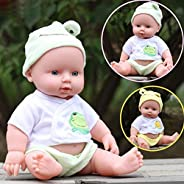 Condor Heroes® Baby Emulated Doll Soft Children Reborn Baby Doll Toys Boy Girl Birthday Gift(Color:yellow &