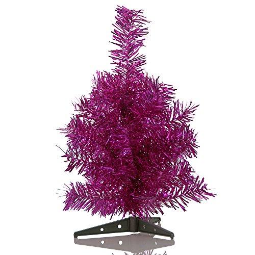 HAB & GUT (XM141) künstlicher Weihnachtsbaum / farbiger Tannenbaum VIOLETT METALLIC - Höhe 30 cm (Weihnachtsbaum Zustand)