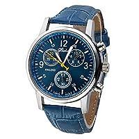 LITB@Lightinthebox lujo moda cocodrilo cuero de imitación hombres hombres analógico Relojes de pulsera azul de LightInTheBox