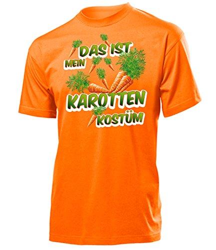 Karotten Kostüm Herren T-Shirt Karottenkostüm Gemüsekostüm 4978 Karneval Fasching Faschingskostüm Karnevalskostüm Paarkostüm Gruppenkostüm Orange XL