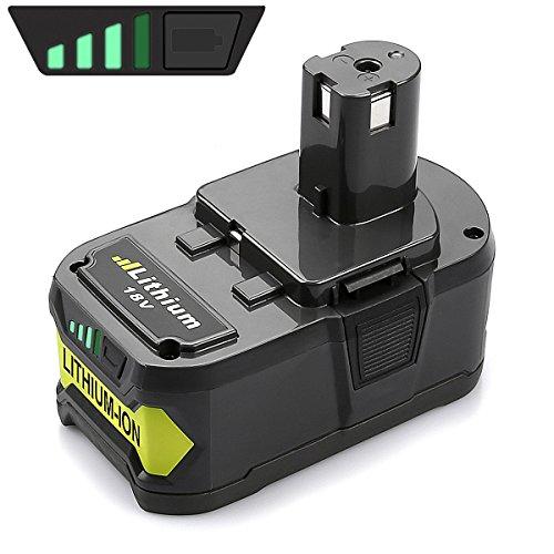 Energup 4,0Ah 18V Li-Ion Batterie de Remplacement pour Ryobi ONE+ P102 P103 P104 P105 P107 P108 ONE+ 18V Outils Sans Fil