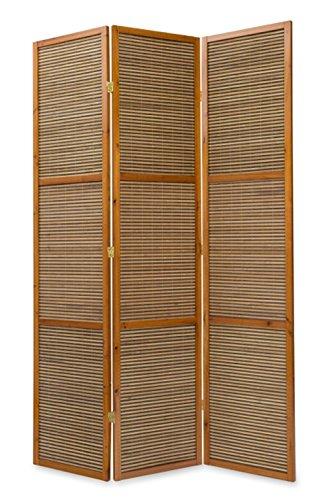 PEGANE Biombo Madera Color castaño bambú Especial